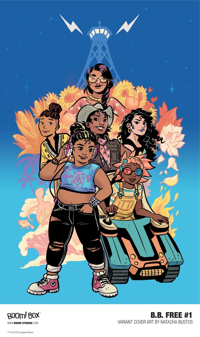 Comic book cover of 'b.b. free'