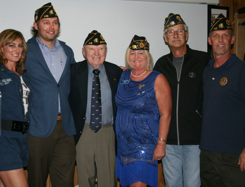 ‪American Legion Officers and Members with US Navy Capt(Ret.) E. Royce Williams.‬