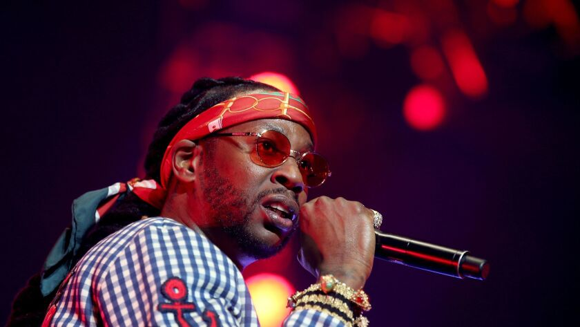 Georgia rapper 2 Chainz performs during the BET Experience at Staples Center.