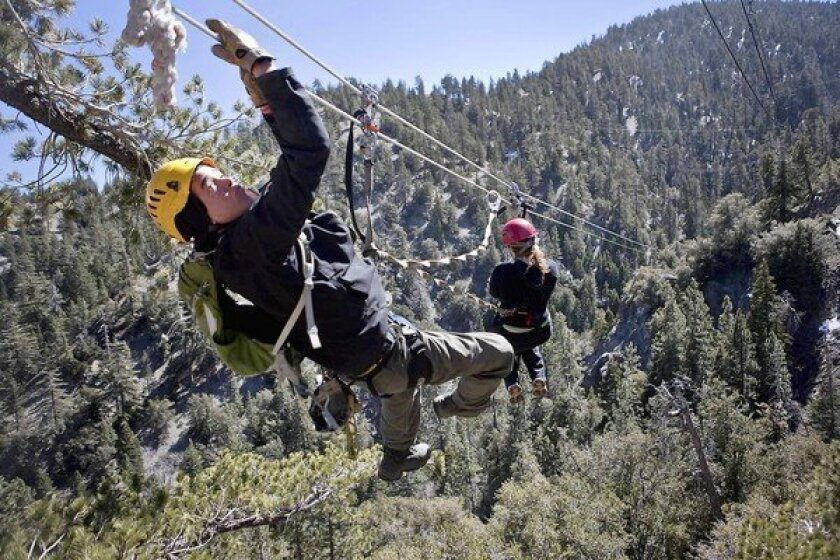 Zip line tours in Southern California