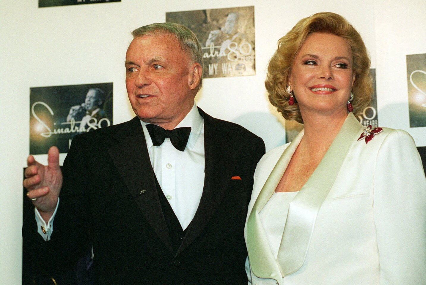 Frank Sinatra and his wife Barbara are shown in this Nov. 19, 1995, file photo.
