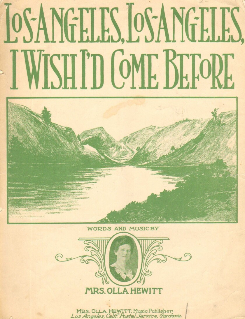 Sheet-music cover has an illustration of mountains and a lake.