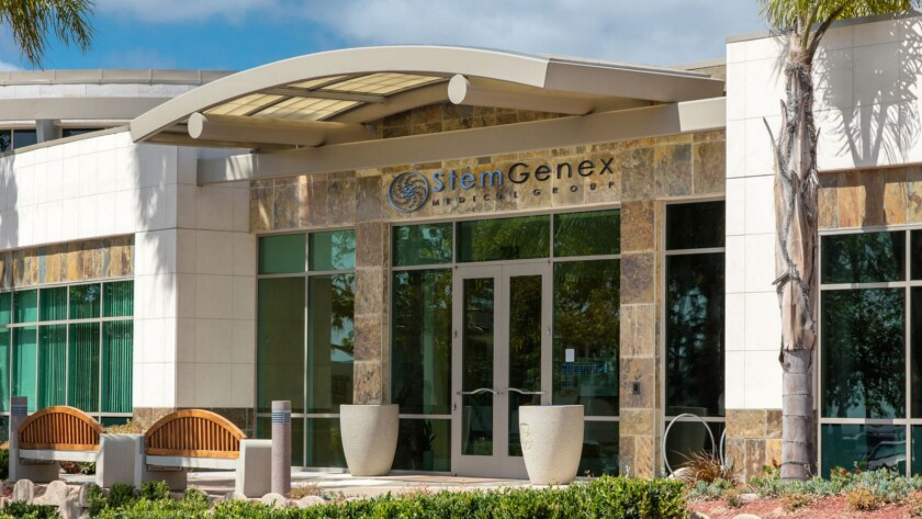 "StemGenex offered stem cell ""treatments"" out of this La Jolla location. Facing legal challenges, the firm has filed for bankruptcy."