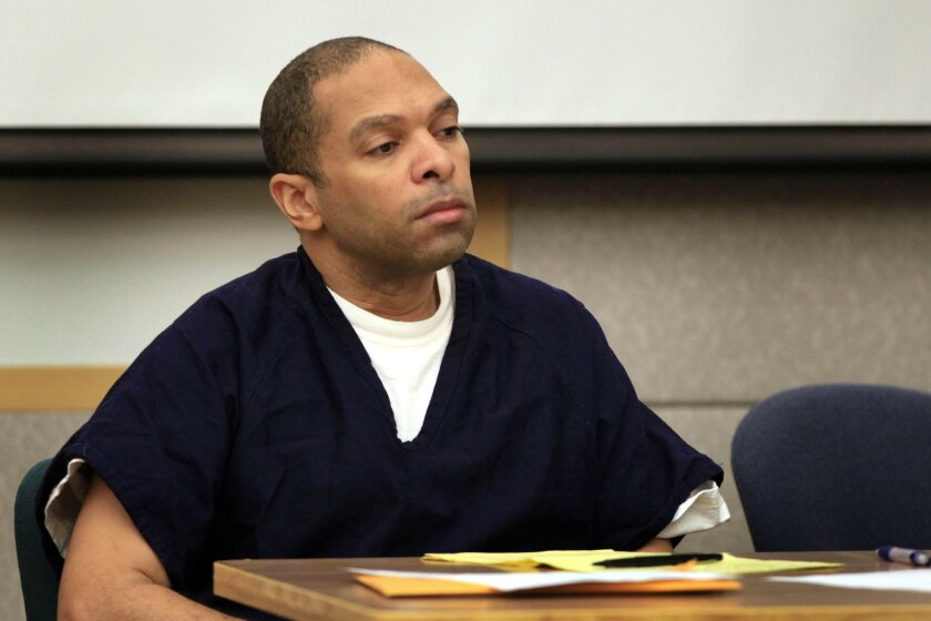 Louis Ray Perez, one of three defendants in the Brittany Killgore murder during the second day of the preliminary hearing in Vista Superior Court. The defendants, Louis Ray Perez, Jessica Lynn Lopez and Dorothy Grace Marie Maraglino, have pleaded not guilty to murder charges.