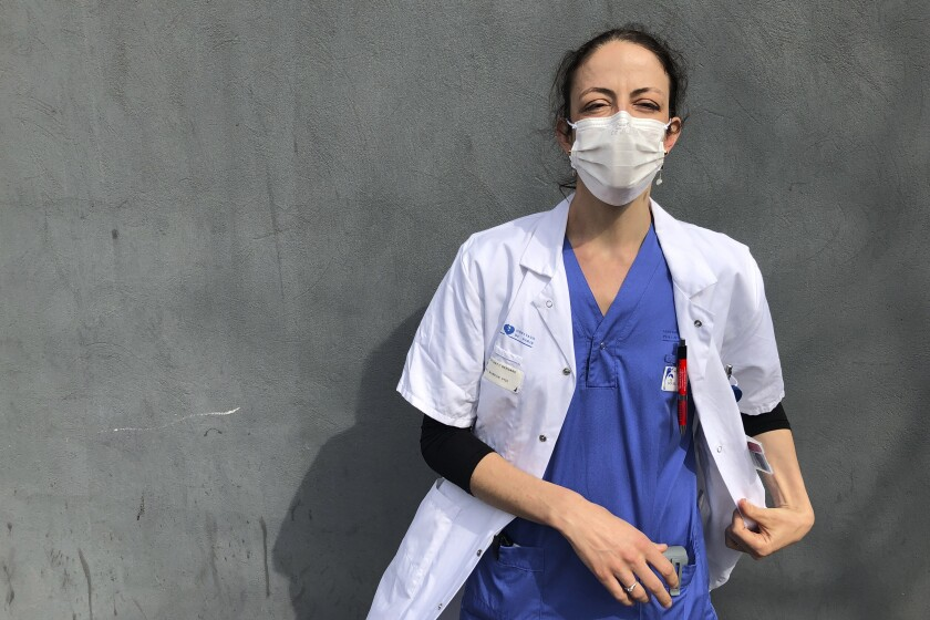 Aurelie Gouel, an ICU doctor in Paris, was infected by the coronavirus in March but rushed back to work as soon as she recovered.