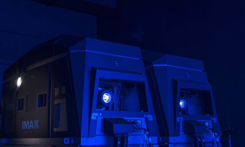 Imax Corp. on Wednesday unveiled its dual 4K laser projection system at the TCL Chinese Theatre in Los Angeles.