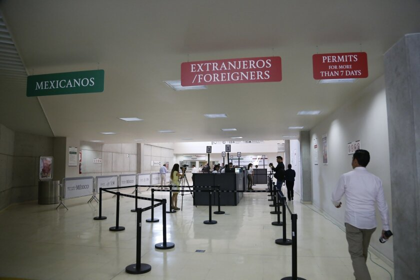 Foreign visitors to Mexico will have their own line as they enter Mexico's new pedestrian entrance at San Ysidro.