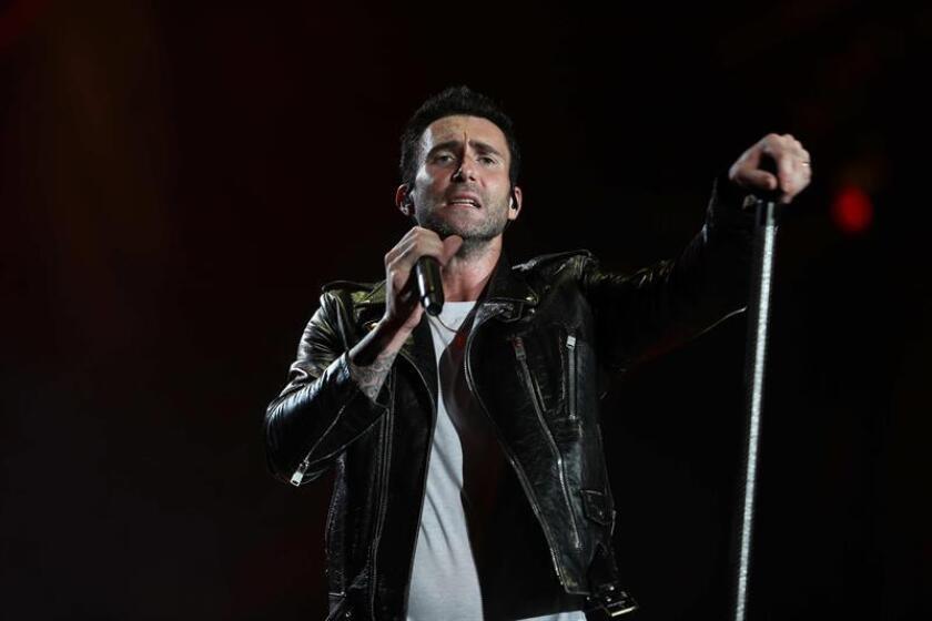 El vocalista de la banda estadounidense Maroon 5, Adam Levine. EFE/Archivo