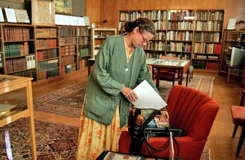 Donna Eng studies illuminated manuscripts, so she spends a lot more time in the Wangenheim Room at the downtown central library than most people. The room houses rare manuscripts, books and paintings.