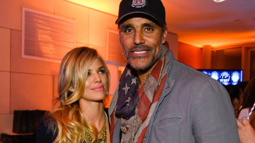 AnnaLynne McCord and Rick Fox attend the Hennessy Lounge at the W Hotel in Scottsdale, Ariz., on Thursday.