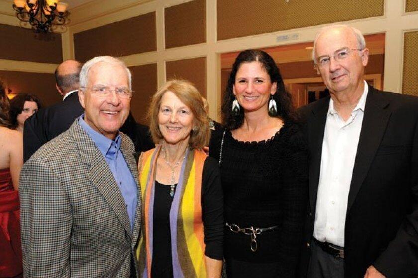 Jerry Stein, Maggie Judge, Crystal Ball Gala Chair Karen Kogut, Crystal Ball Gala Honorary Chair Paul Judge. Photos by Jon Clark