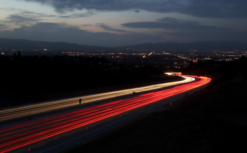 The stretch of the 405 freeway that connects the Westside to the San Fernando Valley.