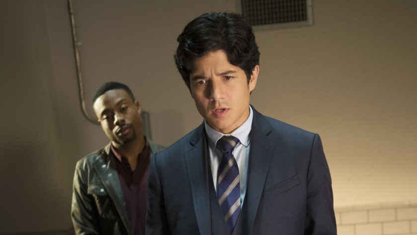 "Justin Hires, left, and John Foo in ""Rush Hour"" on CBS."