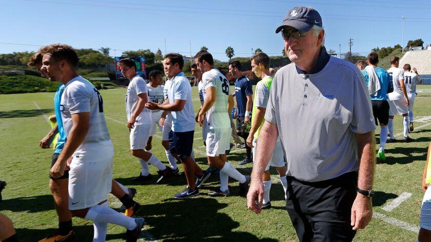 Seamus McFadden with his team in his 39th, and final, season as head coach.