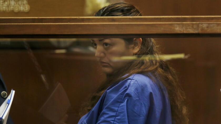 Veronica Aguilar pleaded not guilty to charges in the death of her son.