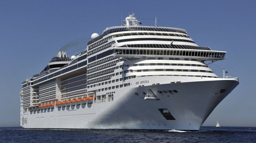 The MSC Divina, a new cruise vessel, arr