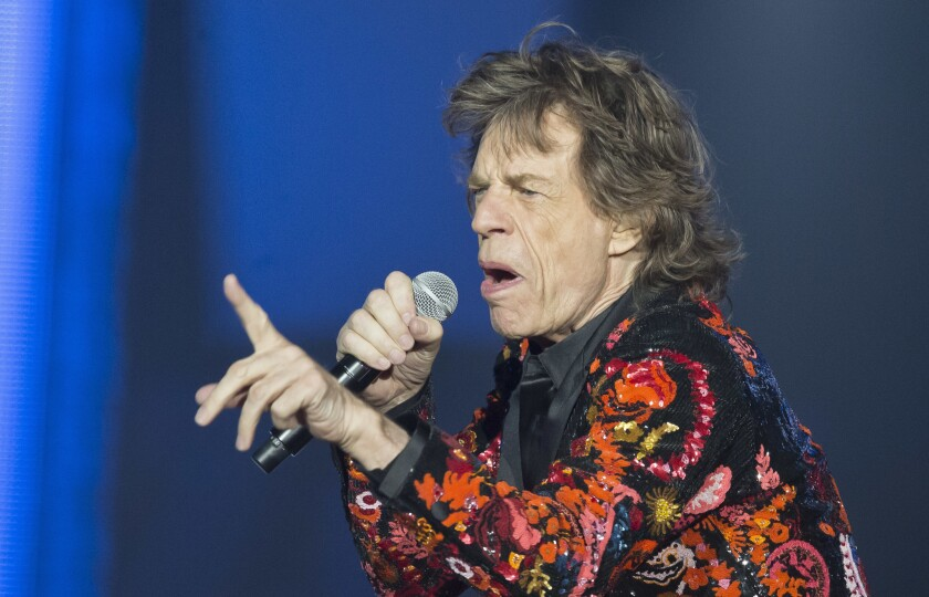Mick Jagger of the Rolling Stones performs during the concert of their 'No Filter' Europe Tour 2017 at U Arena in Nanterre, outside Paris, France, Oct. 22, 2017.