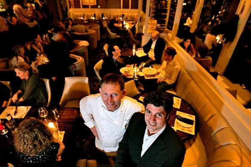 Mark Peel, left, and Jay Perrin are behind the Tar Pit, an Art Deco-inspired bar cum restaurant.