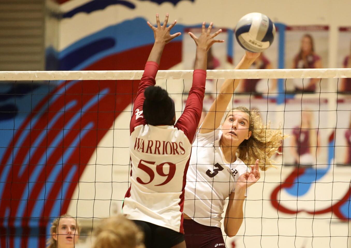 Photo Gallery: Laguna Beach vs. Alemany in girls' volleyball
