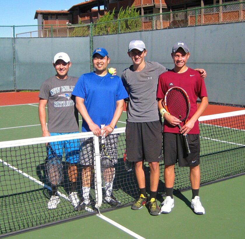 L-R: Evan Lee, Jason Nguyen, and CCA students Jake Williams and Roman Shenkiryk.