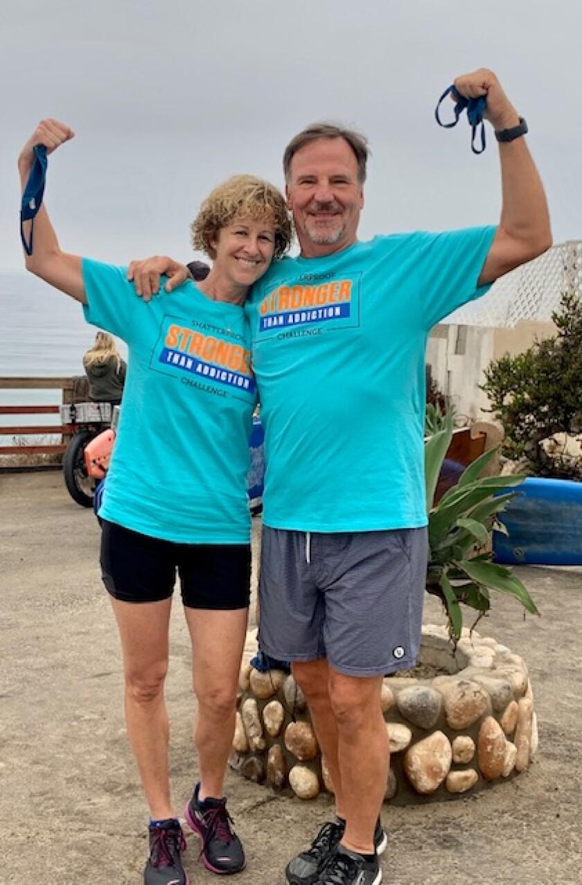 Gena Wilson and her husband Scott participated in Shatterproof's virtual challenge.