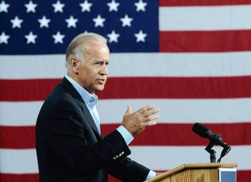 Vice President Joe Biden speaks at the Institute for Advanced Research and Learning in Danville, Va.
