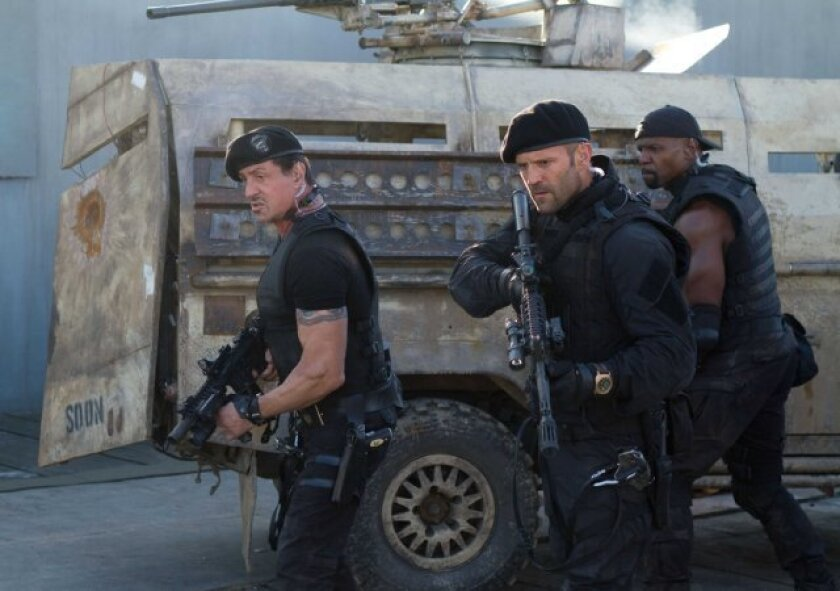 """""""The Expendables 2"""" will be No. 1 at the box office for the second consecutive weekend."""