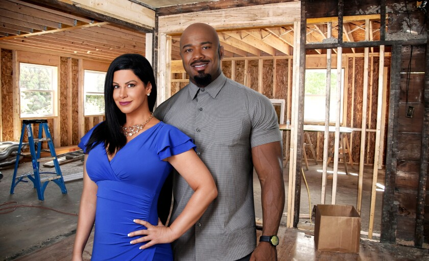 "Hosts Nina Klemm, left, and Michael LeSure transform upscale homes in Carmel, Indiana on  Bravo's ""Flipping Exes."""