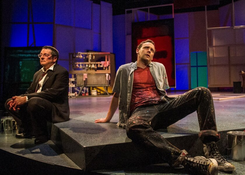 "John Vickery, left, and Jason Maddy in San Diego Repertory Theatre's ""Red."""
