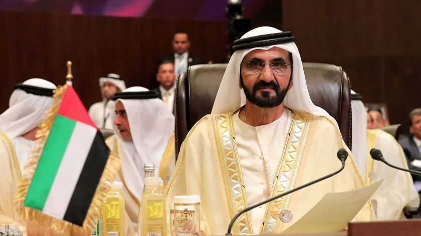 Sheikh Mohammed bin Rashid al Maktoum, vice president and prime minister of the UAE and ruler of Dubai, attends the opening ceremony of the 28th Arab League Summit meeting in Jordan in March.