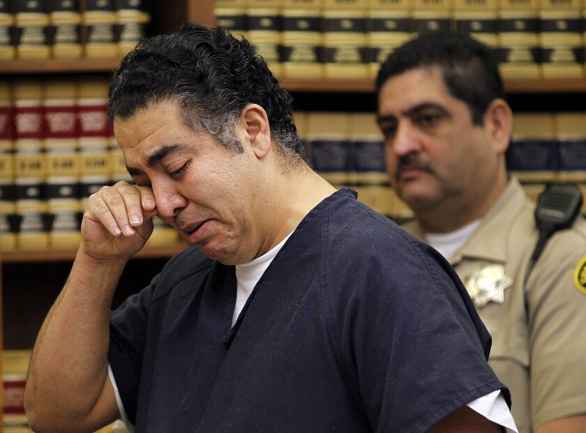 Arevalos during sentencing in February 2012. [U-T file]