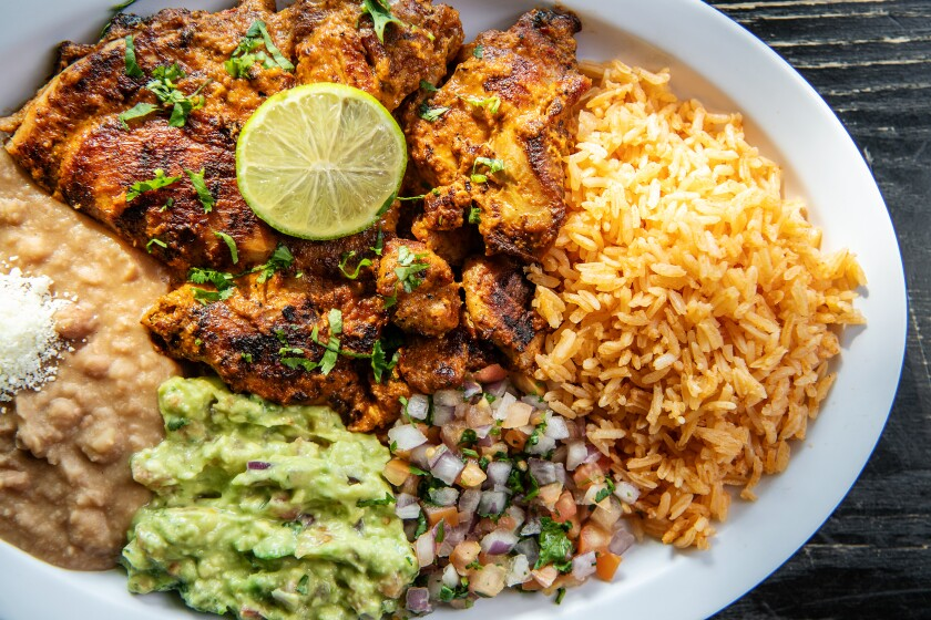 Chipotle-lime chicken from Tirsa's Mexican Cafe.