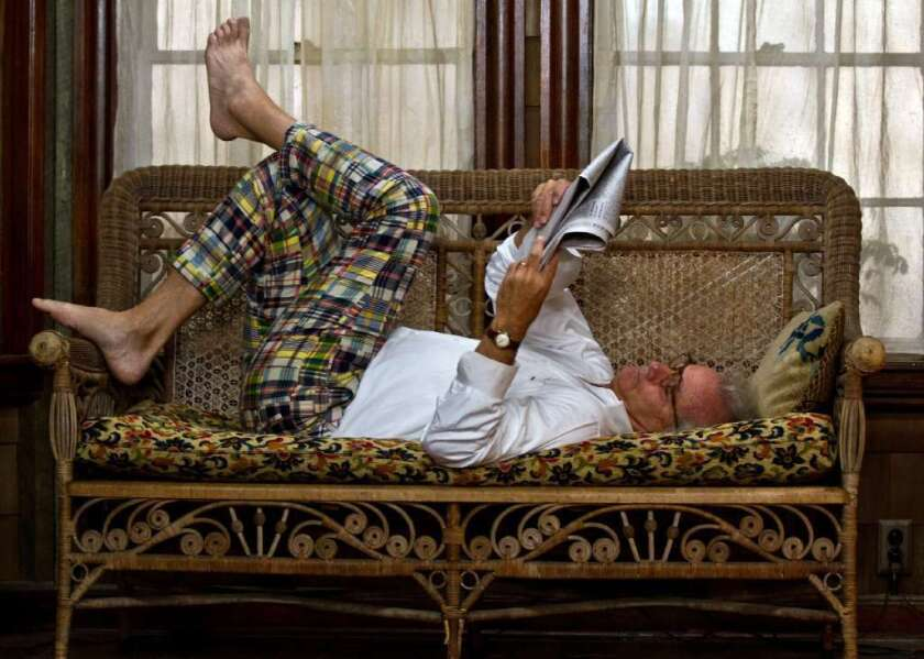 """Bill Murray, seen here catching up on the news in """"Moonrise Kingdom,"""" will work again with filmmaker Wes Anderson on """"Grand Budapest Hotel."""""""