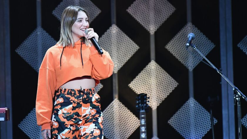 Julia Michaels, seen performing in Atlanta in December, is nominated for two awards at Sunday's Grammys.
