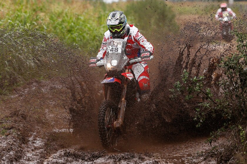 Ricky Brabec in the 2016 Dakar Rally