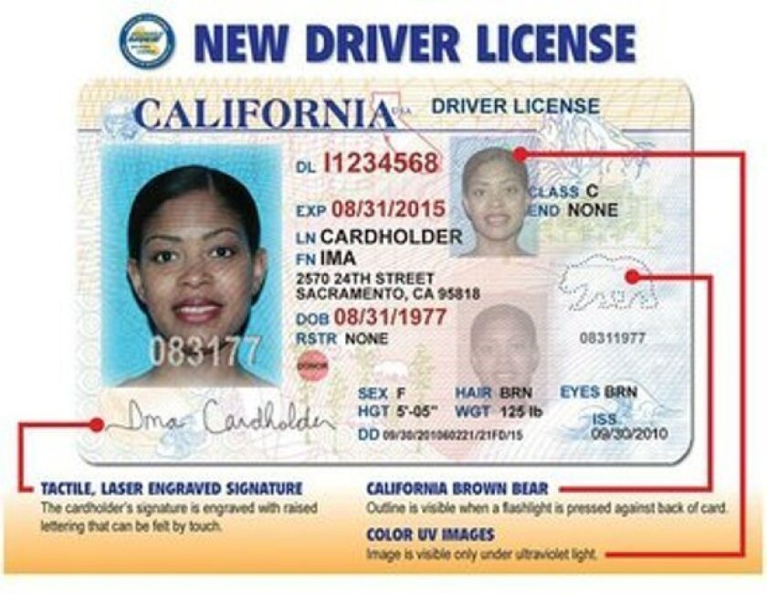 New California driver's license