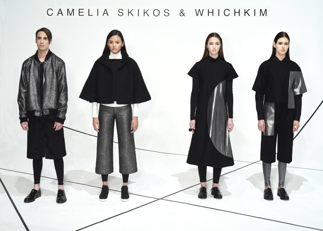 Designs from the Camilla Skikos x Whichkim collection at L.A. Fashion Week.