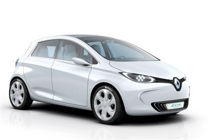 In this photo provided by French car maker Renault, Wednesday, Nov. 10, 2010, shows the Renault Zoe concept car. France's 35,000 Zoes will face merciless playground teasing and off-color come-ons if Renault goes ahead with plans to call its new electric car after the popular first name, a lawyer hoping to force the French carmaker into re-baptizing the model has insisted. (AP Photo/Renault/HO) MANDATORY CREDIT RENAULT