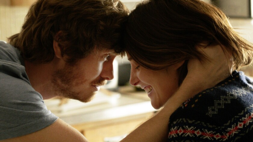 """Anders Holm and Cobie Smulders in a moment from """"Unexpected."""" Directed by Kris Swanberg, the film is premiering in the U.S. Dramatic Competition at the 2015 Sundance Film Festival."""
