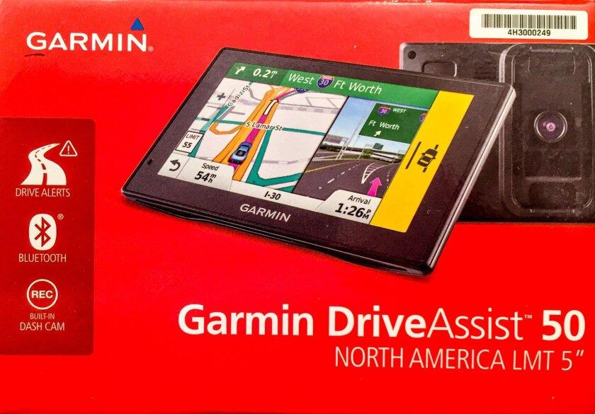 Garmin DriveAssist 50 GPS navigation with dash cam