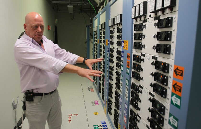 Jeff Kahn, switch operations manager at Verizon Wireless, explains how the company's switching center in San Diego County includes redundant systems to guard against failures.