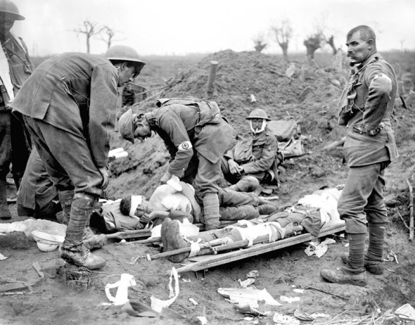 July 31, 1917, the first day of Passchendaele, the battle that cost British forces more than 260,000 dead and wounded.