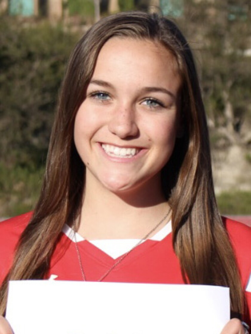 Sophia Aragon of Cathedral Catholic was the girls soccer CIF Player of the Year in 2020.