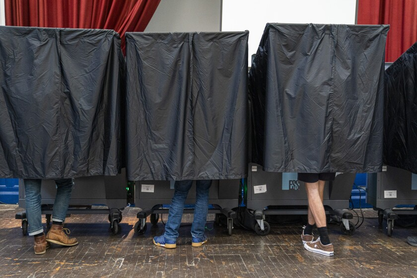 Voters cast ballots in primary elections on June 2, 2020 in Philadelphia, Pennsylvania.