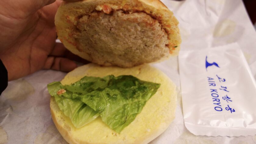 The burger offered on Air Koryo flights has fascinated Western travelers.