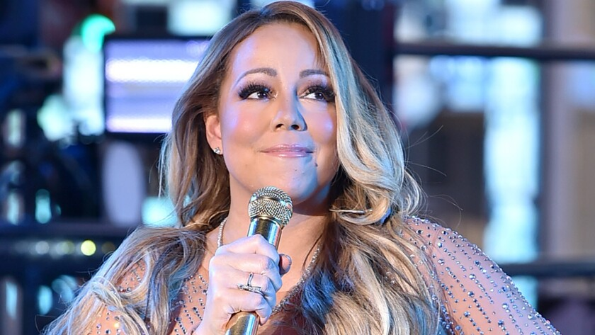Mariah Carey in Times Square on New Year's Eve