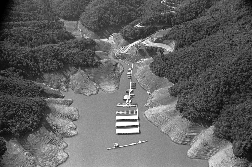 During the 1976-77 drought, the water level at Lake Shasta dropped precipitously. A federal report produced in 1978 placed this drought's economic losses at more than $1 billion.