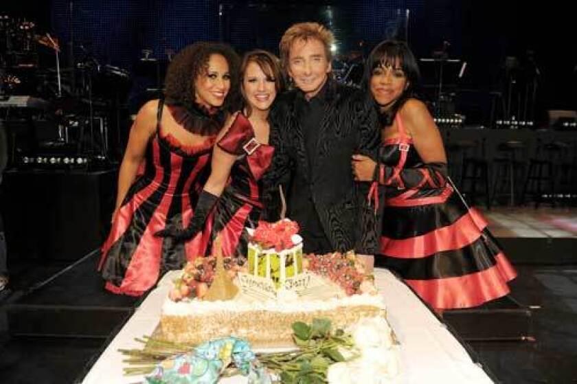 Barry Manilow celebrates one year at Paris Las Vegas.