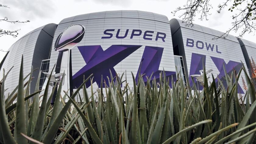 Preperations for Super Bowl XLIX