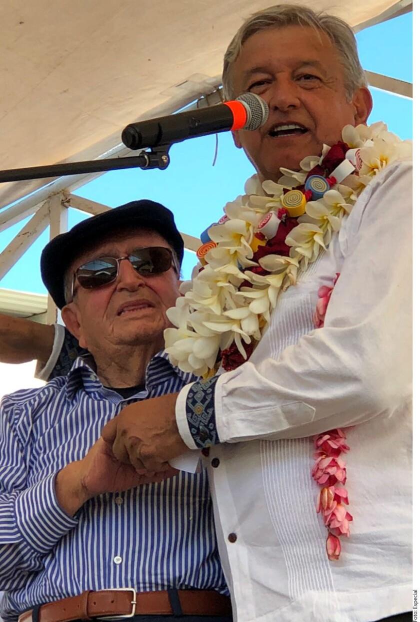 Andrés Manuel López Obrador destacó su amistad con Fernando Coello Pedrero, abuelo materno del Gobernador de Chiapas, Manuel Velasco.